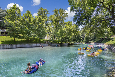 A day on the Comal River is a day of relaxation