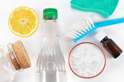 Home cleaning supplies can be easily crafted from a few simple ingredients, all of which are harmless to use.