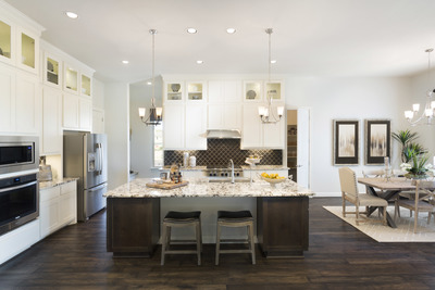 Gorgeous, dynamic interiors abound in Scott Felder Homes' latest offerings.