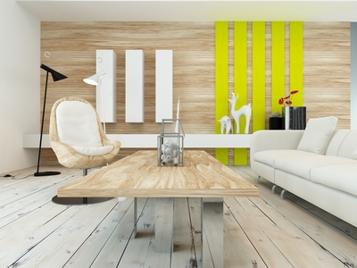 Wood paneling can make a room look modern and fresh.