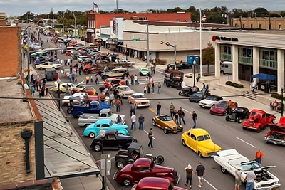 Once a year, the streets of downtown Taylor shut down and are turned over to a car show and street dance.