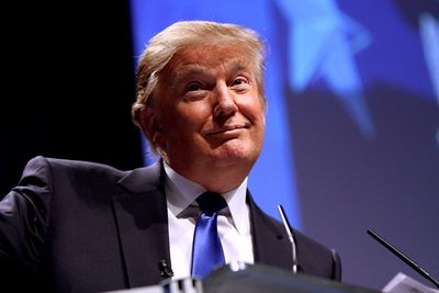 Donald Trump speaking at CPAC in Washington D.C. on February 10, 2011.