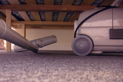 Careful vacuuming not only keeps a clean house, but a less allergic one too.