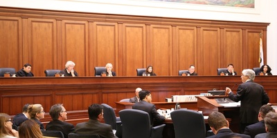 A hearing before the California Supreme Court.