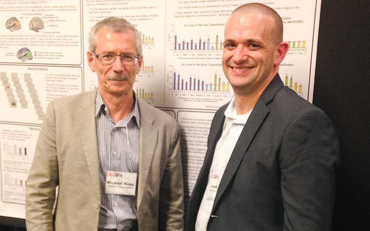 Michael Rigg (left) and Josh Koen  found that stronger memory reactivation decreased the likelihood of that memory being forgotten while learning new information.