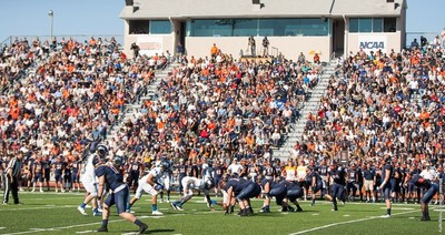 Wheaton College lines up for a play during the 2016 sesaon.