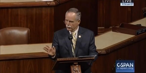 West Virginia Congressional District 1 Rep. David McKinley speaks on the floor of the House in Support of The Coal Healthcare and Pension Protection Act