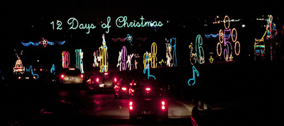 The Rock'N Lights Holiday Tour is a place to roll down the windows and take in the Christmas spirit.