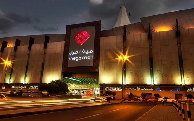 The Mega Mall in Sharjah.
