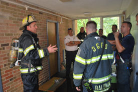 Members of the Downers Grove Fire Department took part in training exercises at Midwestern University.