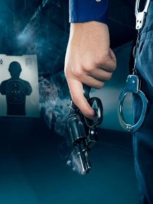 Medium police gun cuffs