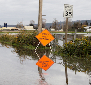 Example of flooded zone.