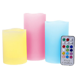 Glow Candle Flameless Color Changing Pillars