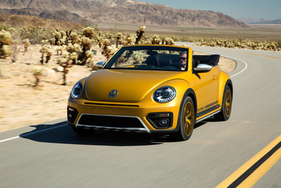 The Dune might pay homage to the Baja Bugs, but mostly in a cosmetic sense. With front-wheel drive and the standard base four-cylinder Beetle engine, you're not doing any off-roading.