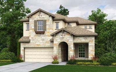 This is one of the plan designs available in the Cornerstone at Circle C Ranch subdivision.