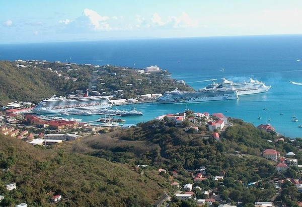 Large 1024px cruise ships in charlotte amalie harbor saint thomas u.s. virgin islands