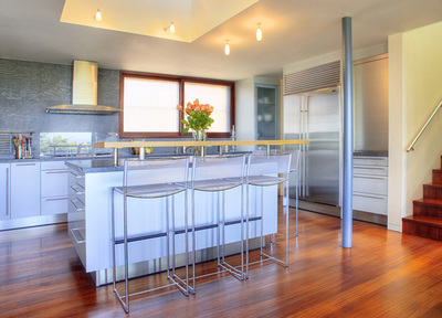 The kitchen is another area that will often become entertainment space or a place for people to gather.