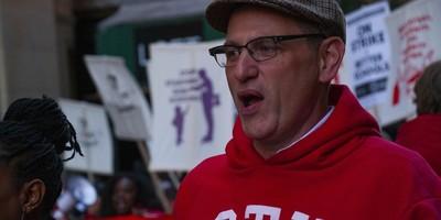 Chicago Teachers Union president Jesse Sharkey