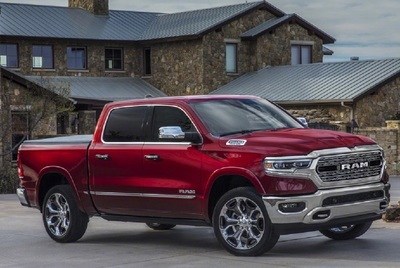 The new Ram 1500 has an innovative, sculpted roof design that directs air to the real spoiler.