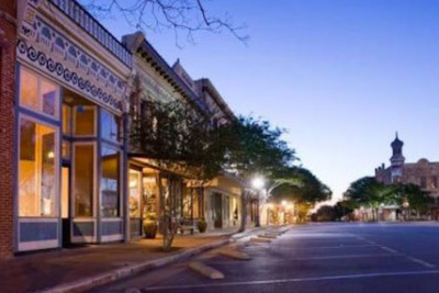 Downtown Georgetown is a mix of historical buildings that lend a bit of charm to the Austin suburb.