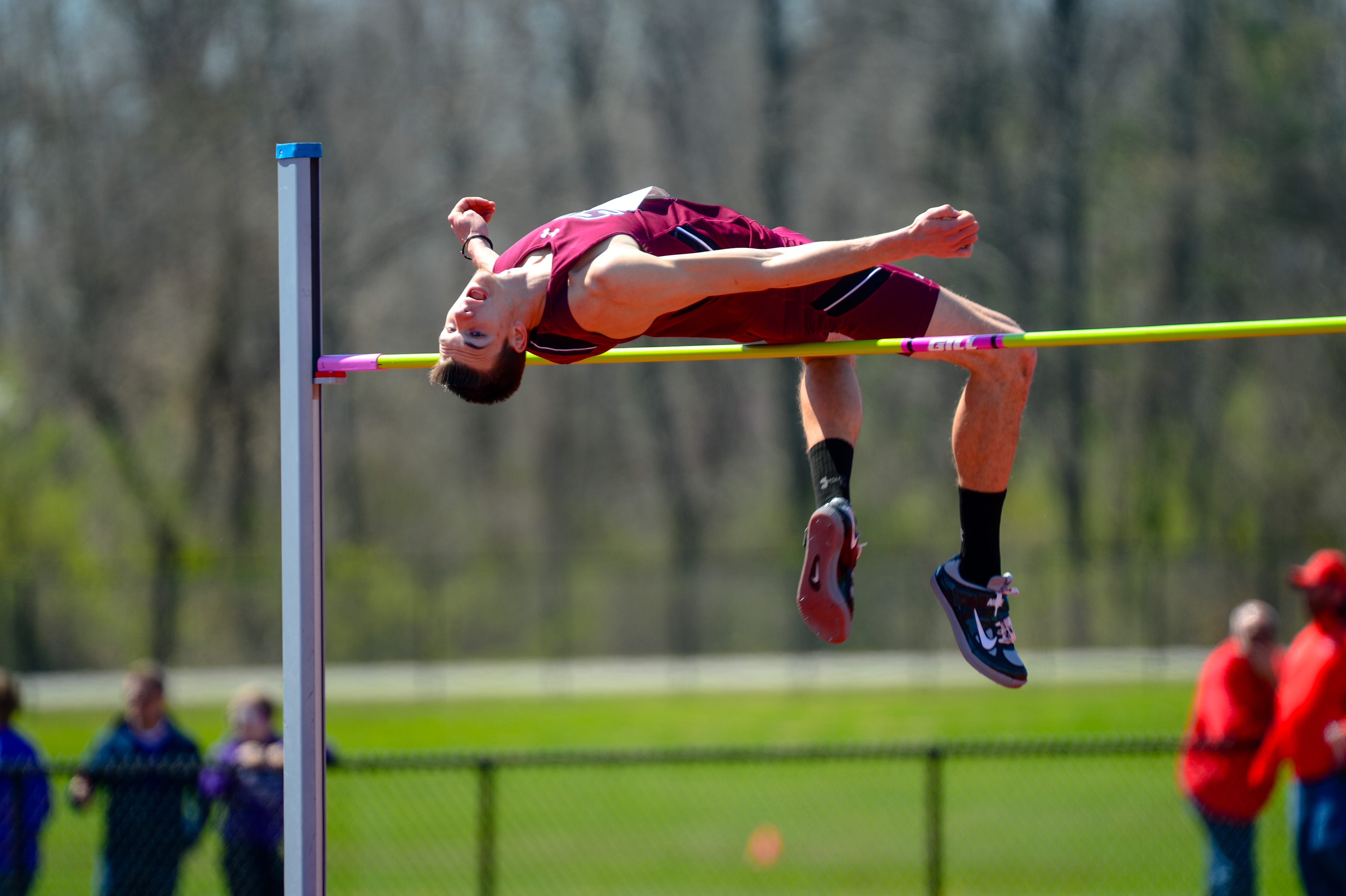 Southern Illinois' Kyle Landon competes in the high jump in this undated photo. Landon took the silver medal at the U.S. Olympic Trials on July 10 in Eugene, Oregon.