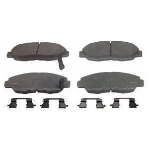 Ceramic brake pads last longer and withstand greater temperatures than semi-metallic brake pads
