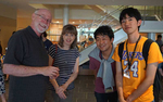 Exchange students from the Sakae Institute meet with program staff.