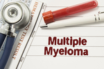 Multiple myeloma develops within plasma cells in bone marrow.