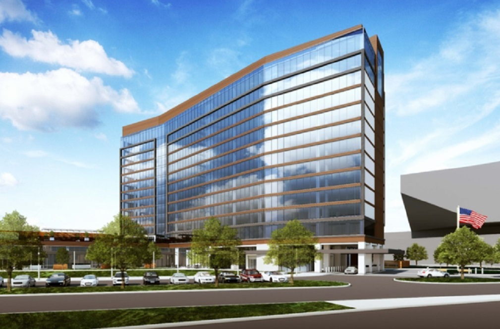 The $110 million full-service hotel next to the Irving Convention Center will offer 350 guest rooms.