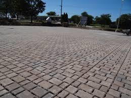 Permeable pavers help prevent stormwater runoff.
