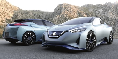 The IDS's claim to fame is its self-driving capability. There's also increased electric range and full carbon-fiber construction to brag about. Could its basic shape end up being the next Nissan Leaf?