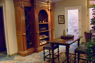 True fans of quality wines will often have a prominent place for their favorite bottles.