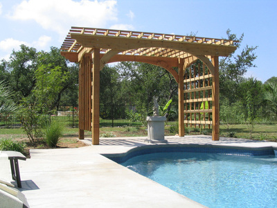 Pergolas are a unique and time-tested architectural piece for garden pools and other outdoor spaces.