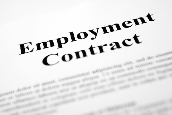 Large employment contract