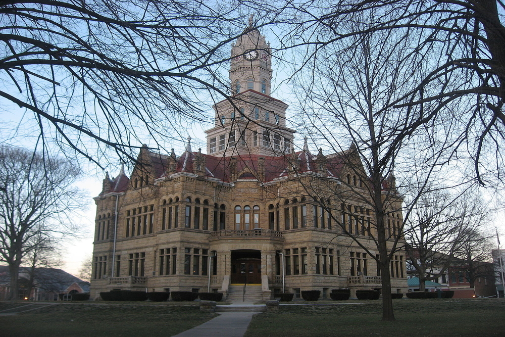 Edgar County Courthouse in Paris, a city where residents are projected to experience a $2,587,008 tax increase.