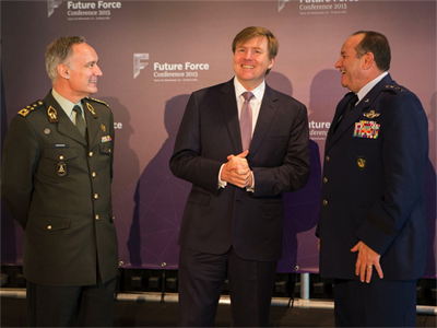 General Tom Middendorp, the Chief of Defence Netherlands Armed Forces, The King of the Netherlands, Willem-Alexander and General Philip Breedlove, Supreme Allied Commander Europe