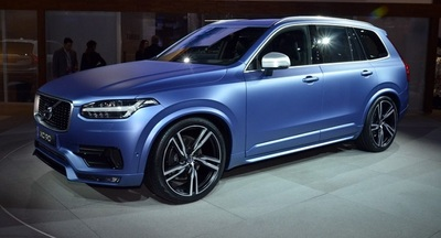 The Volvo XC90 also has safety features such as automatic braking.