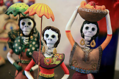 Figurines such as the ones celebrating Mexico's