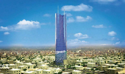 An apartment is now available in this residential tower in Riyadh.