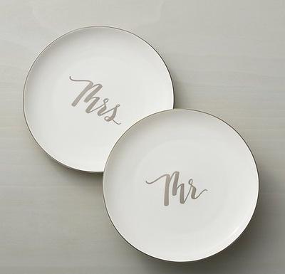 Mr. and Mrs. Salad Plates