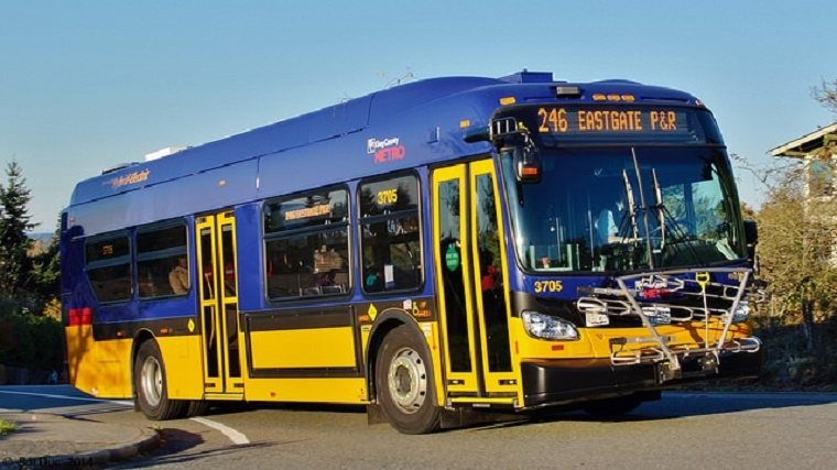 A King County Metro no-idle bus.