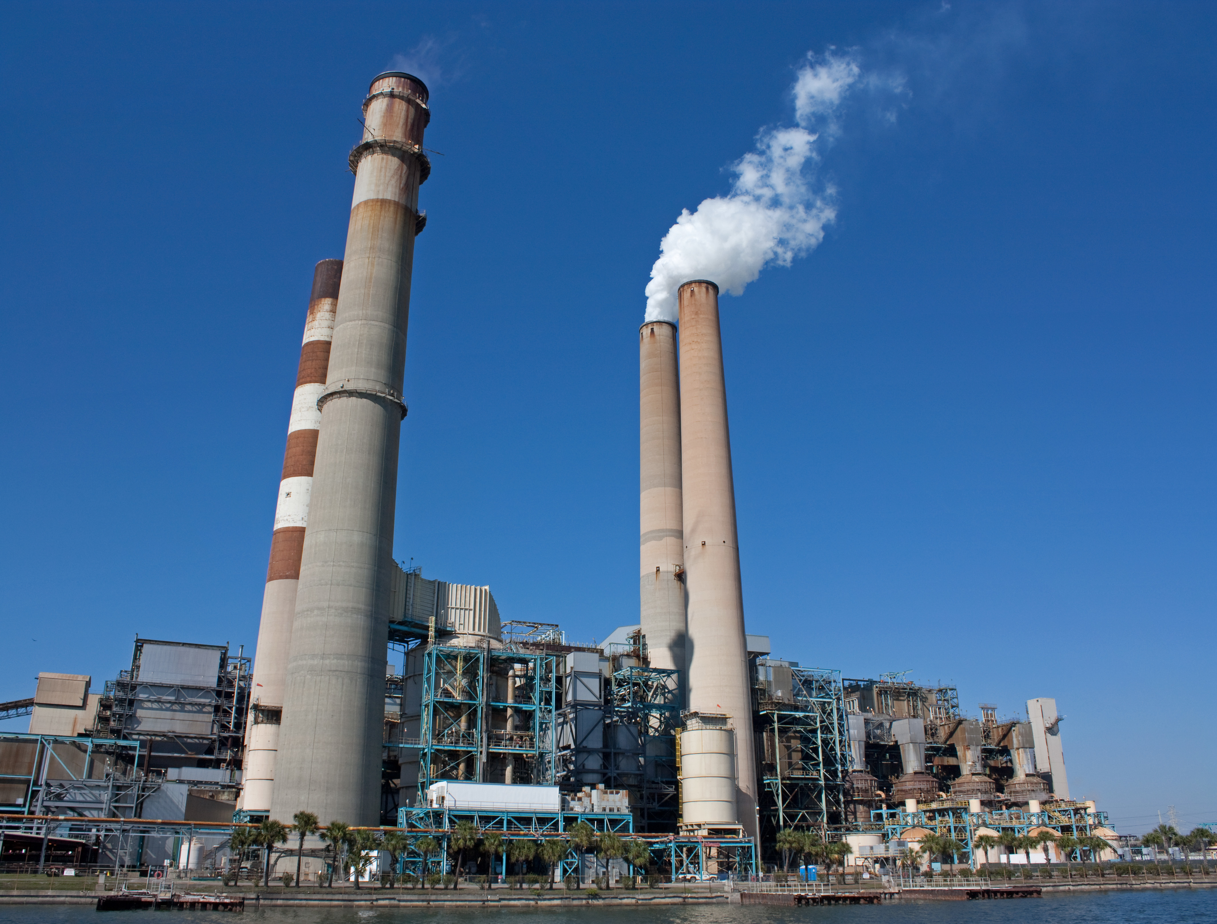 A fossil fuel power station in Apollo Beach, Florida.