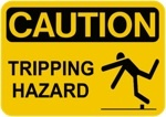 Caution slip and fall danger sign 150