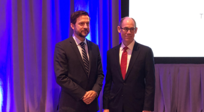 Assistant Reporter Kyle Logue (Left) and Reporter Tom Baker (Right) celebrated the approval of their Restatement of the Law of Liability Insurance, at the American Law Institute's Annual Meeting this year in Washington, D.C.