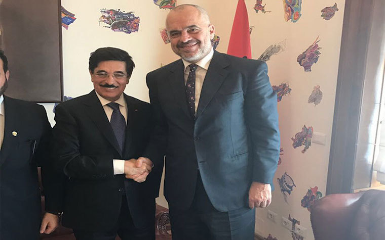 UNESCO director-general candidate from Qatar meets with Albanian prime minister