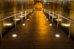 Pathway lighting provides a stunning alternative to hanging lights.