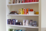 A well-organized and decorated bookcase gives a room a stately, aesthetically pleasing feel.
