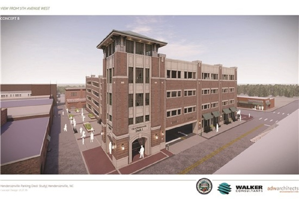 Hendersonville parking deck concept b 12 by 8