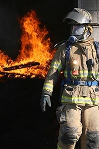 Blinn fire science students participate in rigorous classroom instruction in fire and life safety.