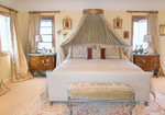 The drapery cannot be ignored if creating a dreamy home environment.